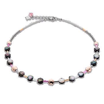 Swarovski Crystal Mother of Pearl Rose Necklace