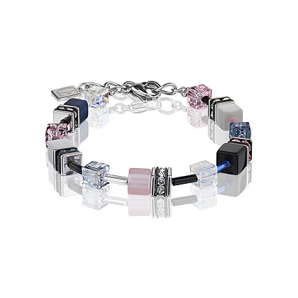 Geo Cube Blue/pink toned bracelet