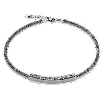 Grey Mesh Swarovski Necklace
