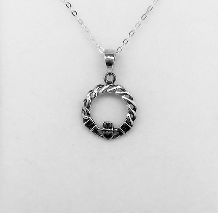 Claddagh Pendant with Celtic Knot Detail