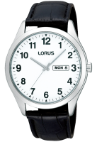 Black Leather Easy to Read Lorus Watch