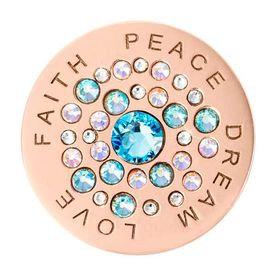 Rose Gold Plated Love Faith Peace Dream
