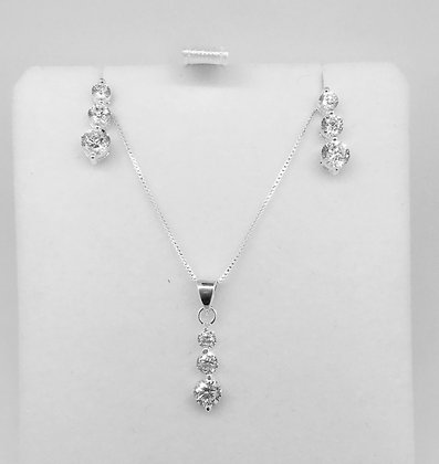 S/Silver Pendant and Earring Set
