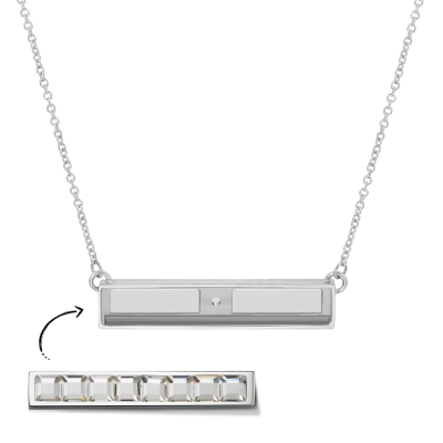 Silver Toned Necklace Without Bar