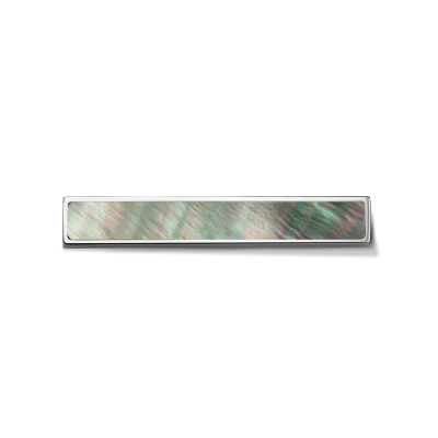 Shell Grey Silver Toned Bar