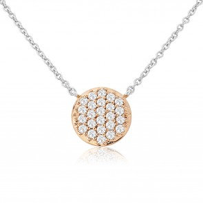 Waterford Small Rose Disc Pendant