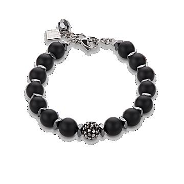 Black Matte Rhinestone Bracelet