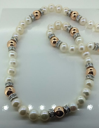 Helen Cui Pearl and Rose Gold Plated Necklace