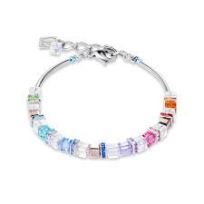 Bracelet Swarovski Crystals & glass & rhinestone stainless steel multicolour