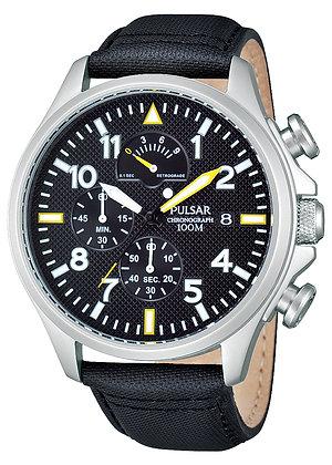 Black Chronograph Lorus Sports Watch
