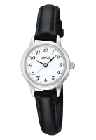 Black Leather Strap Lourus Watch