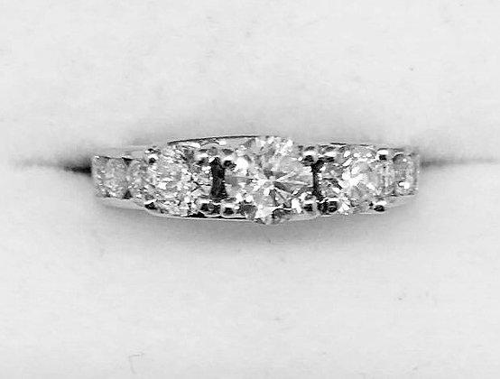 9ct Gold Diamond Enagement Ring