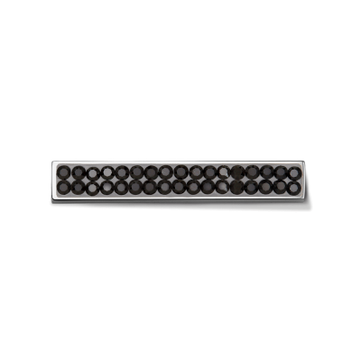 Swarovski Black with Silver Toned Bar