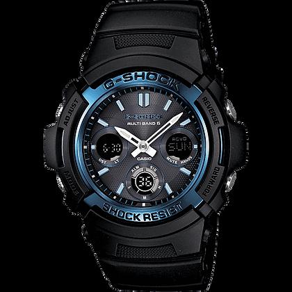 Black with Blue G-Shock Casio Watch