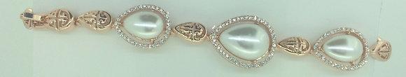 Rose Gold Plated Pearl Bracelet
