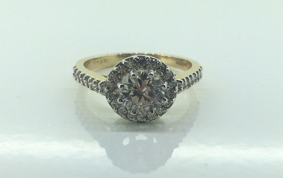 9ct Yellow Gold Engagement Ring
