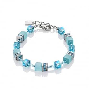 Geo Cube Frosted Skies Blue Bracelet