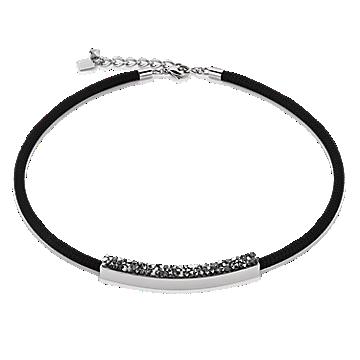 Black Mesh Swaroski Necklace