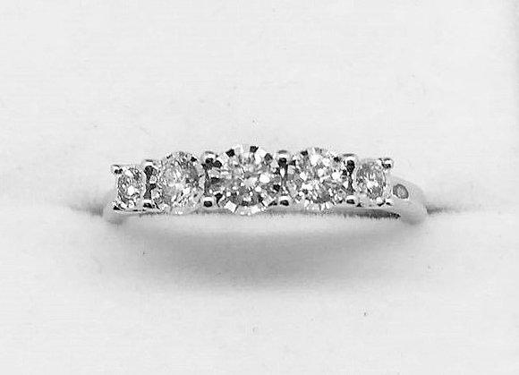 9ct White Gold Diamond Enagement Ring
