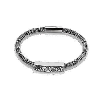 Grey Mesh Swarovski Bracelet