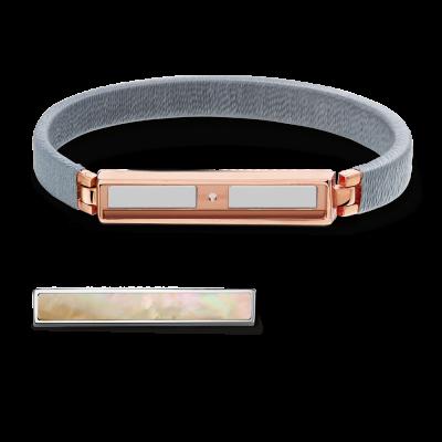 Boho Steel Grey and Rose Gold Bracelet Without Bar