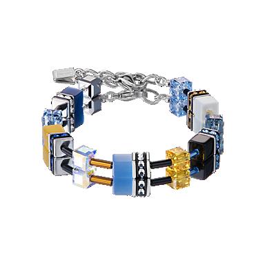 GeoCUBE Bracelet blue-yellow