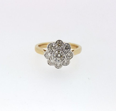 18ct Floral Shape Yellow Gold Engagement Ring