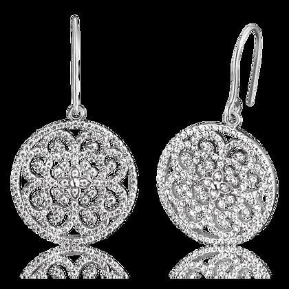 Sterling Silver Ornament Earrings