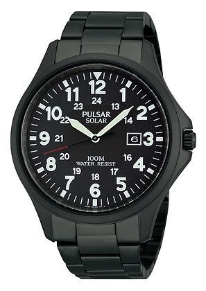 Black Solar Pulsar Sports Watch