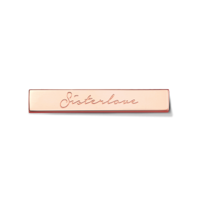 Sister Love Rose Gold Toned Bar