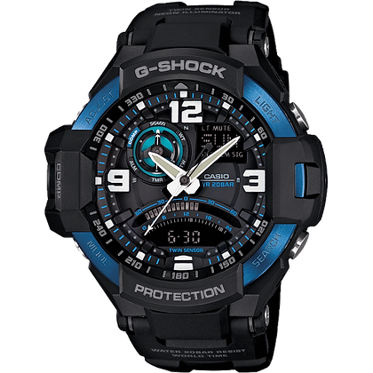 Black and Blue G-Shock Air Watch