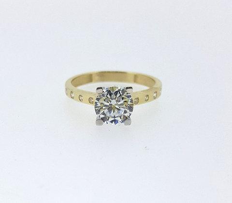 14ct Round Diamond Engagement Ring