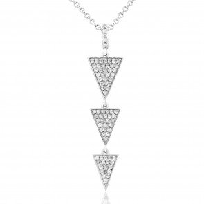 Waterford Triangle Drop Pendant