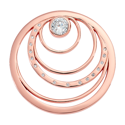 Rose Gold Plated Spiral Coin