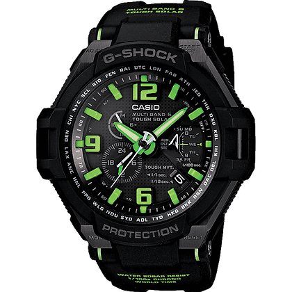Black with Green Detailed G-Shock Air Watch