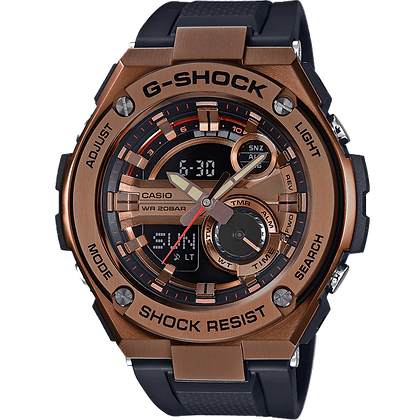 Black and Brown G-Steel Watch