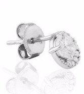Waterford Silver Cluster Stud Earrings