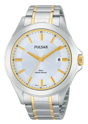 Two-Tone Silver and Gold Pulsar Watch