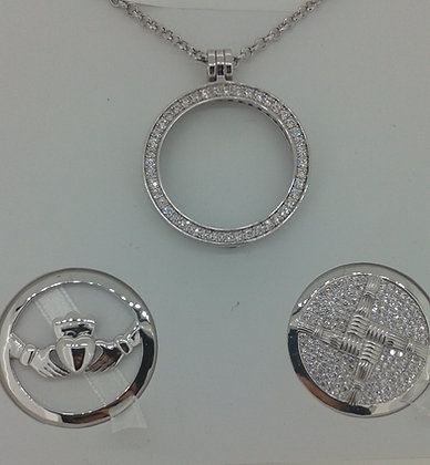 Cailin Silver Plated Pendant Set