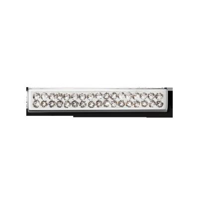Swarovski Crystal Silver Toned Bar