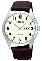 Brown Leather Easy to Read Lorus Watch