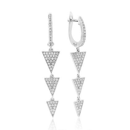 Waterford Triangle Drop Earrings