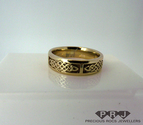 Celtic Gold Wedding Ring