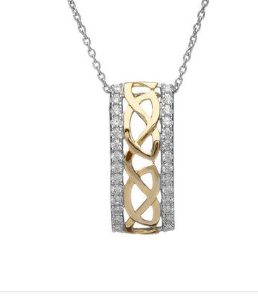 Celtic Sterling Silver Gold Plated Pendant