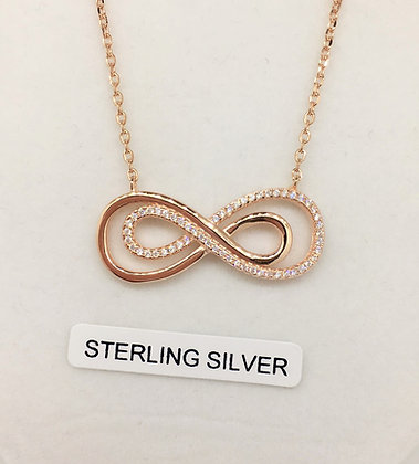 Sterling Silver Rose Gold Plated Pendant