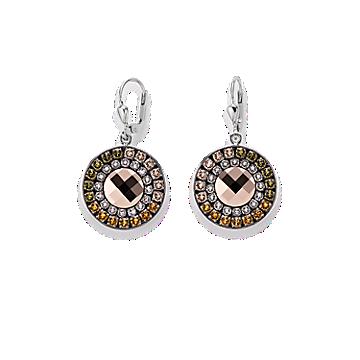 Brown Olive Swarovski Earrings