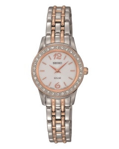 Rose Gold Two-Tone Seiko Watch