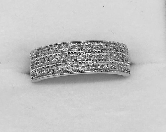 9ct White Gold Diamond Ladies Wedding Ring
