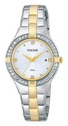 Two-tone Pulsar Watch with Swarovski Crystals