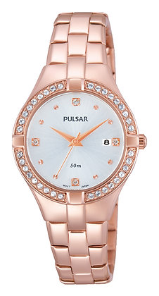 Rose Gold with Swarovski Crystals Pulsar Watch